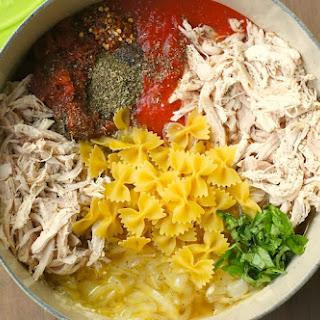 One-Pot Tomato, Basil + Chicken Pasta