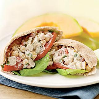 Mediterranean Chicken Salad Pitas