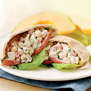 Mediterranean Chicken Salad Pitas.