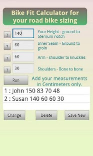 Bicycle Fit - Sizing Calc - screenshot thumbnail