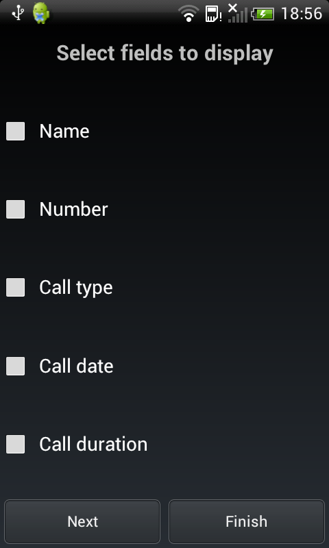 Call Log Report Generator - screenshot