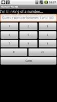 Screenshot of Number Guess