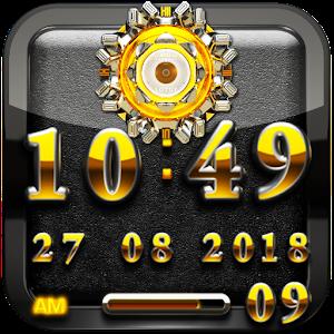 digital clock widget Lotus 生活 LOGO-玩APPs