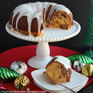 Cranberry Eggnog Bundt Cake Recipe