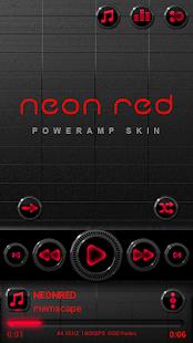 Poweramp skin Neon Red
