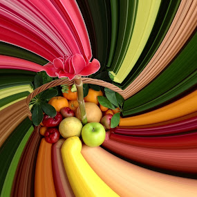 Fruity Twirl! by Dickson   Shia - Artistic Objects Still Life ( new occasion., fruits, basket,  )