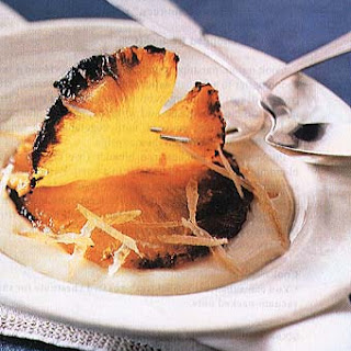 Caramelized Pineapple with Ginger CrèMe Anglaise Recipe