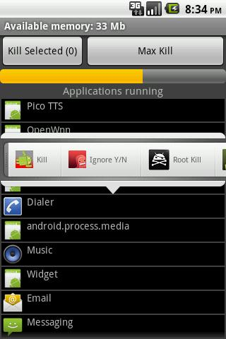 Task Killer ProMax Mini - screenshot