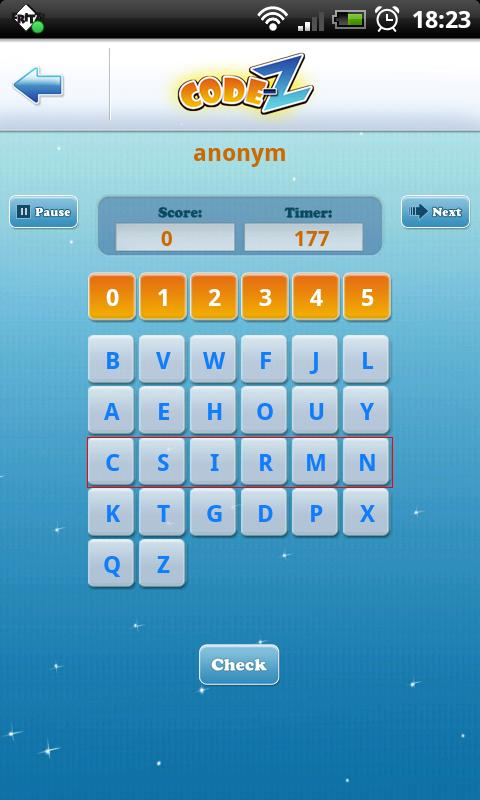 Code-Z: Word Puzzle Game - screenshot