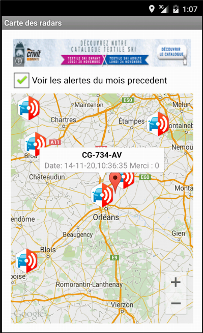 mobiles mobiles radars - screenshot