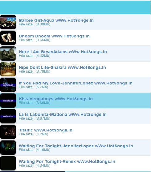 HotSongs - screenshot
