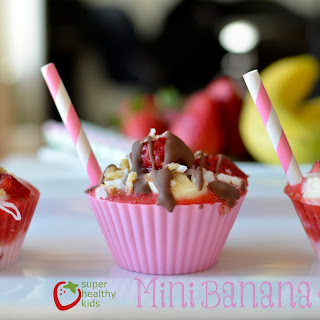 Healthy Banana Split Freezer Bites