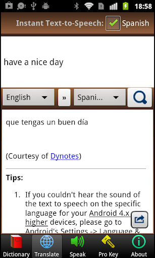 A+ Dictionary Translate Speak