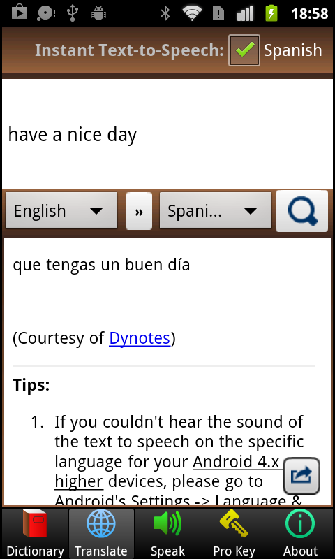 A+ Dictionary Translate Speak- screenshot
