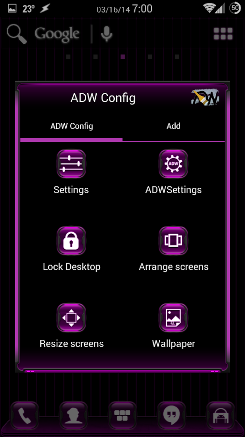 Kosmic Apex/ADW/Nova Theme - screenshot
