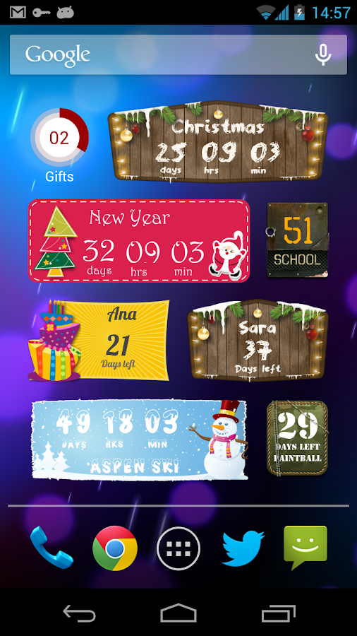 Countdown Days - App & Widget- screenshot