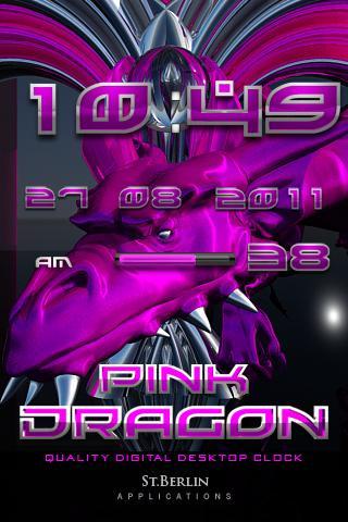 Pink Dragon Clock Widget