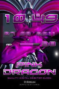 digi clock PINK DRAGON