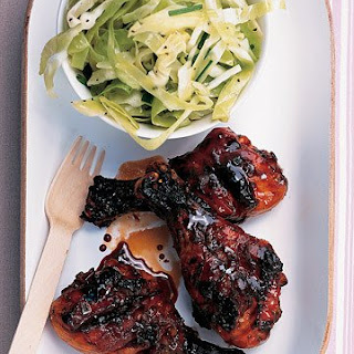 Sweet-and-Sticky Grilled Drumsticks