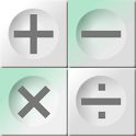 The Bright White Calculator icon