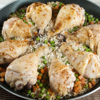 Drumstick Skillet with Rice.