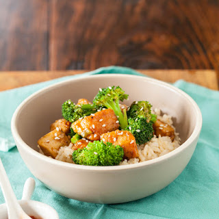 Healthy General Tso's Chicken.