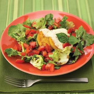 Mediterranean Salad With Polenta.