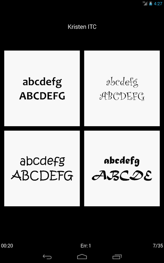 Typefaces- screenshot