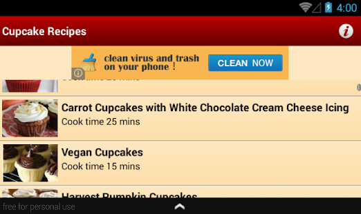 Cupcake Recipes for Android screenshot 3