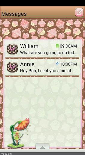CupcakeFairy GO SMS THEME