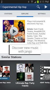 Jango Radio- screenshot thumbnail