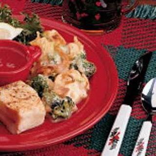 Broccoli Cauliflower Casserole (french-fried onions)