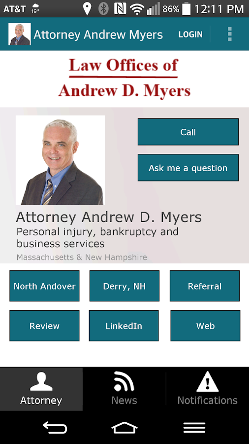 Attorney Andrew D. Myers- screenshot
