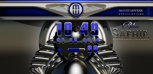 Digi Clock Widget Blue Saphir APK