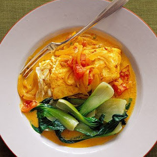 Indian-Spiced Halibut with Yogurt.