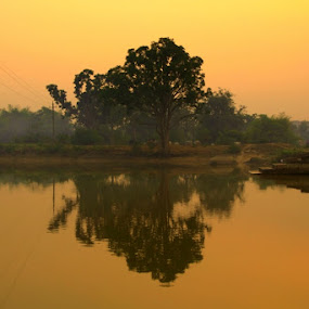 An evening in Purulia by Surajit Rudra - Landscapes Waterscapes