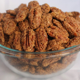Cinnamon Candied Pecans.