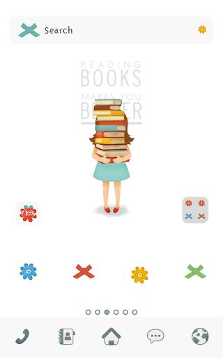reading books dodol theme