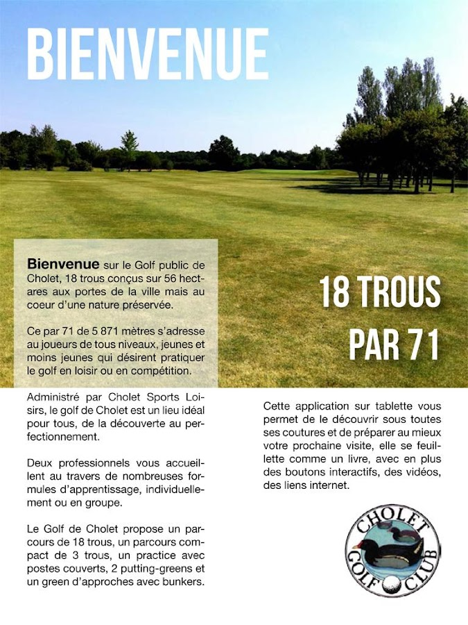 Golf de Cholet- screenshot