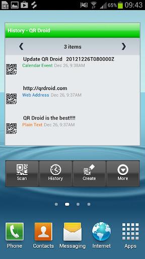 【免費生產應用App】QR Droid Widgets-APP點子