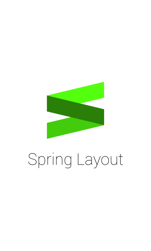 Spring Layout Sample- screenshot
