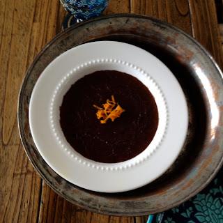 Cumin-Orange Chocolate Semolina Pudding