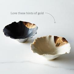 Gold-Dipped Seashell Pinch Bowl