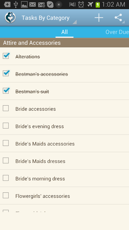Our Wedding Planner - screenshot