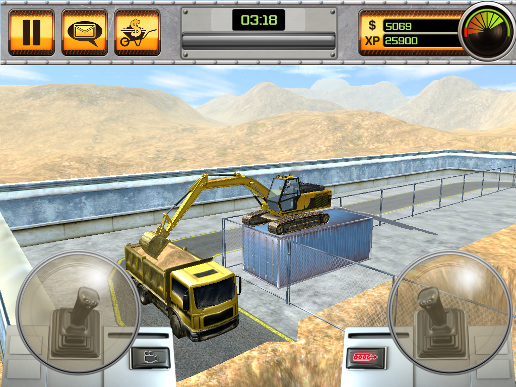free online excavator operating games