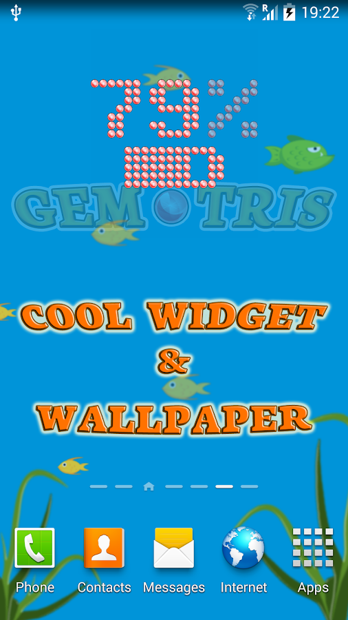 Gemtris: game,widget,wallpaper- screenshot
