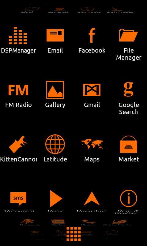 Minimalist_Orange - ADW Theme - screenshot