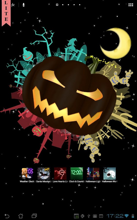 Halloween Live Wallpaper free - screenshot