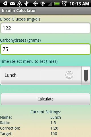 Insulin Calculator - screenshot