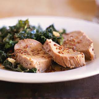 Honey-Mustard Pork Tenderloin with Kale.
